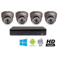 Kompletny zestaw do monitoringu: Rejestrator Gise, Dysk 1TB, 4 kamery AHD Gise, Zasilacz 12V/5A, 40m przewodu UTP