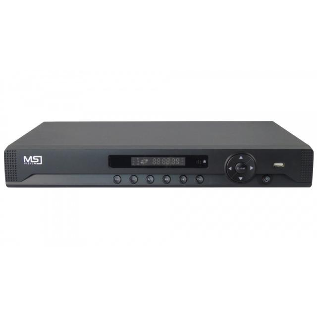 Rejestrator hybrydowy 16-kanałowy 5w1 MSJ-HBR-7216HA 2HDD 1080p, 1xAudio, USB, VGA, HDMI